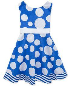 Rare Editons Little Girls' Polka Dot Open-Back Dress