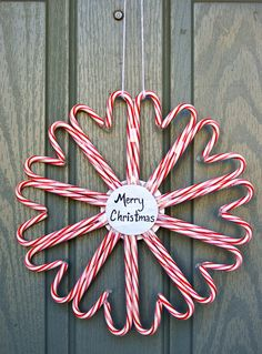 DIY Wreath - could use mini candy canes and make ornaments or wall decos