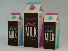 Dribbble - Fresh Milk by Isabela Rodrigues