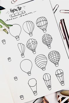 25+ Best Hot Air Balloon Bullet Journal Spreads For 2021 - Crazy Laura