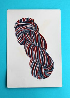 Y is for Yarn Giant Flash Card Alphabet Picture Card by LifesAYoyo