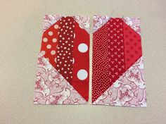 two sides of heart block-Strippy Heart Quilt Block
