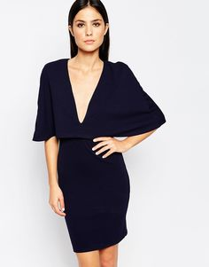 Club L Cape Overlay Dress, $35 in Navy from ASOS