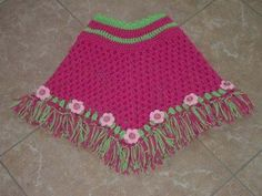 Delicate Flowers CROCHET PONCHO PATTERN by craftylady1951 on Etsy