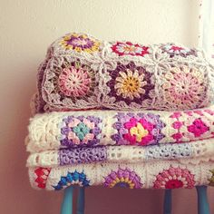 crochet blankets! I adore the top one !