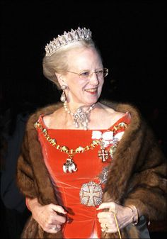 Patrick's heroine, Queen of Denmark. We saw her in person when she arrived by helicopter to her estate which we happened to be strolling on. Good times.