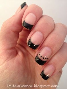 Black tips with one dotted finger