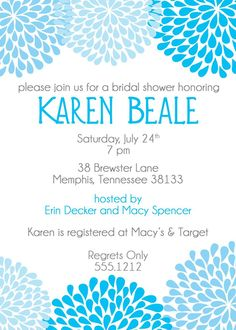 Free Templates For Bridal Shower Invitations #6