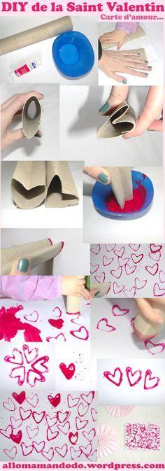 DIY d'amour... Des cartes, des dessins, des tableaux plein de coeurs (tuto…