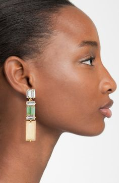 """Super trendy right now! I'm seeing these """"Kendra Scott"""" drop earrings everywhere. They come in all different colors. Bar Stud Earrings, Pearl Drop Earrings, Chandelier Earrings, Statement Earrings, Diamond Earrings, Diamond Stud, Fringe Earrings, Cluster Earrings, Crystal Earrings"""
