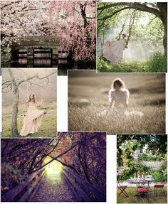 garden style dreamy collage