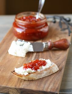 This Sweet and Tangy Tomato Jam can be used on everything from grilled meats to bruschetta to sandwiches.