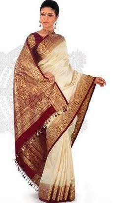 white silk kanjeevaram sarees - Google Search
