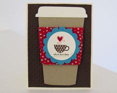 """Stampin Up Patterened Ocassions exclusive Sale-a-bration stamp set  and a """"whole latte love!"""""""
