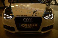 Übergabe eines Audi A5 an Andrea Henkel.