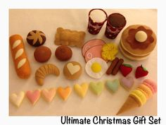 Etsy pretend felt food- play food   ULTIMATE Christmas gift set 2015