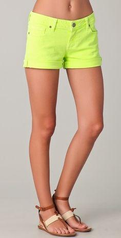 Paige Neon Shorts