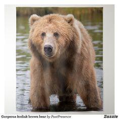 Gorgeous kodiak brown bear tapestry