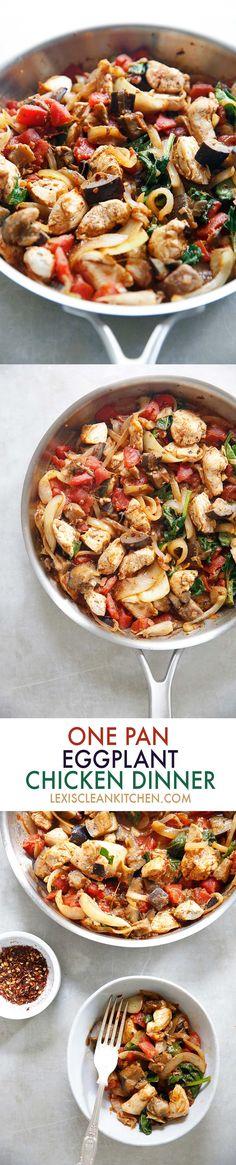One Pan Eggplant Chicken Dinner #Video | Lexi's Clean Kitchen