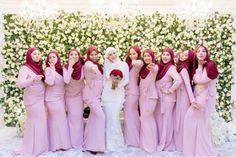 Koleksi Tema Warna dan Design Baju Bridesmaids   Blog Sihatimerahjambu Kebaya Modern Hijab, Kebaya Muslim, Model Kebaya, Bridesmaid Dresses, Wedding Dresses, Bridesmaids, Pastel, Dan, Design
