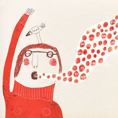 bubble talk giclée art print, face a day project, Red Cheeks Factory