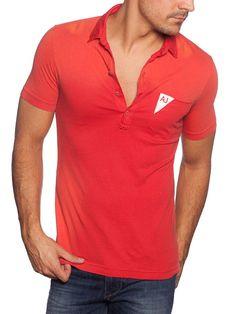 Armani Jeans #Polo #hombre #rojo #