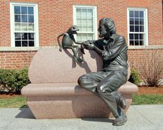Statue Of Jim Henson And Kermit The Frog University Of Maryland - College Park Photo:  This Photo was uploaded by benchilada. Find other Statue Of Jim He...