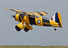 Westland Lysander MK III. This is a Mk III (serial no. 2363) from the Canadian Warplane Heritage Museum in Hamilton, Ontario. It is finished in a yellow & black 'bumblebee' target tug scheme.