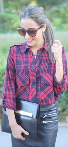 Plaid Blouse by Be Sugar And Spice