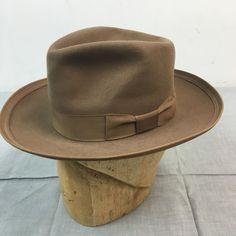 8399ca79e4e91 Vtg 30s 40s Penneys MARATHON Fedora Felt Men s Dress Hat 6 3 4 Mens Dress