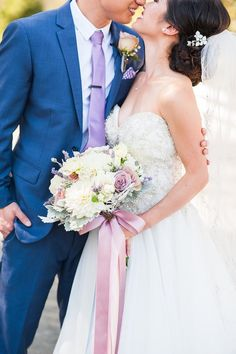 Nancy and David's California wedding sparkles with fun in every detail! See the photos from Candice Benjamin Photography. Blue Suit Wedding, Lilac Wedding, Sparkle Wedding, Mod Wedding, Wedding Suits, Spring Wedding, Elegant Wedding, Wedding Colors, Dream Wedding