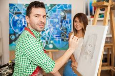 Drawing on easel stock photo 95321107 - iStock