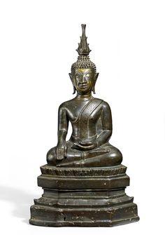 Bronze, Thailand, Buddha Statues, Luang Prabang, Bagan, Objet D'art, Laos, Sculptures, Antiques