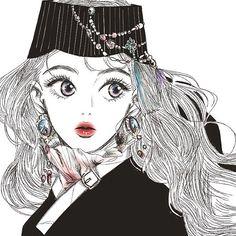 나가기 전에 이런 여유가 있다니#낙서#그림#일러스트#black#한복#생활한복 Illustration Sketches, Illustrations And Posters, Character Illustration, Graphic Illustration, Character Art, Character Design, Anime Korea, 2d Art, Portrait Art