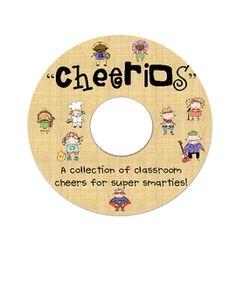"""Cheerios!""  Classroom Cheers Book--$4.00 TpT!  Super fun!"