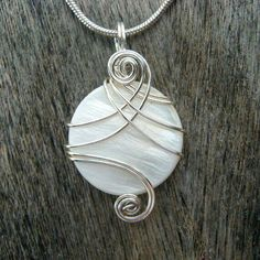Pendant wire wrapped