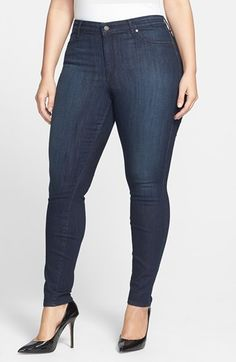 CJ by Cookie Johnson 'Joy' Stretch Skinny Jeans (Kahana) (Plus Size) available at #Nordstrom
