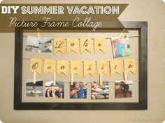 DIY Summer Vacation Picture Frame Collage