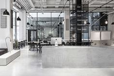 Usine Restaurant by Richard Lindvall  See more at WWW.TRANSFER.DESIGN #transfer #design #blog  #archiporn #architecture #building #followforfollow #instagood #interiordesign #retail #Usine #Restaurant #by #Richard #Lindvall