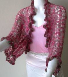 free knit shrug pattern - Kid Merino Lacy Shrug - Crystal Palace Yarns