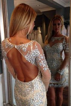 Backless Beading Homecoming Dress,Sexy Party Dress,Charming Homecoming Dress,Cheap Homecoming Dress,Homecoming…