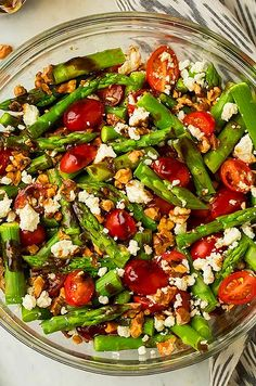 Asparagus, Tomato and Feta Salad with Balsamic Vinaigrette - Cooking Classy - Spargel Rezept Clean Eating Recipes, Healthy Eating, Cooking Recipes, Healthy Recipes, Dishes Recipes, Detox Recipes, Healthy Salads, Recipies, Vegetarian Cooking