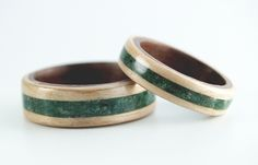 Wood Rings! Beautiful and simple. :)