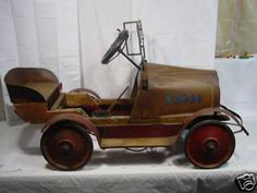 1920 Gendron Pioneer Hudson Pedal Car Antique Toys, Vintage Toys, Soap Box Cars, Kids Bicycle, Kids Ride On, Pedal Cars, Tin Toys, Vintage Bicycles, Miniture Things