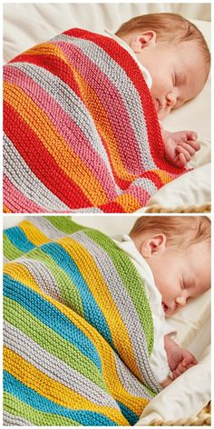 Free knitting pattern: Ollie and Polly Blankets by Jem Weston from The Knitted Nursery Collection: 14 Cuddly Toys and Colourful Accessories for Babies