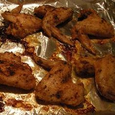Baked Chicken Wings Allrecipes.com These are really good and if you want to make them buffalo-style, just toss them in your favorite hot sauce after they've gotten good and crispy in the oven.