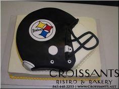 Steelers Football Helmet Cake by Croissants Bistro & Bakery