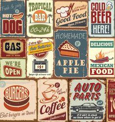 Vintage, Sticker Lave-vaisselle - Stickers Lave-vaisselle - Stickers électroménager Images Vintage, Art Vintage, Vintage Signs, Vintage Ads, Vintage Packaging, Vintage Labels, Vintage Stickers, American Retro, Deco Retro