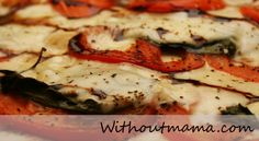 Tomato basil pizza w/balsamic reduction (aka: Dinner tonight)