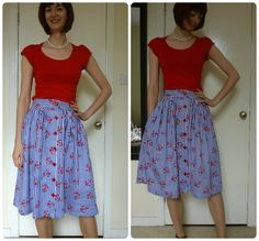 Made with Tilly's Picnic Blanket Skirt Tutorial